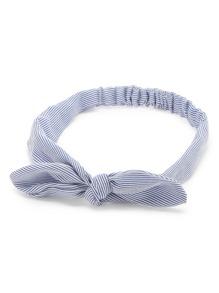 Pinstriped Bow Headband