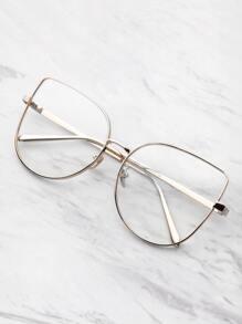 Flat Lens Cat Eye Glasses