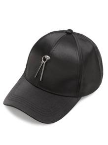 Double Bar Embellished Baseball Cap