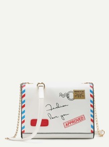 Envelope Shaped Crossbody Bag