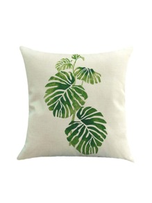 Plant Print Pillowcase Cover
