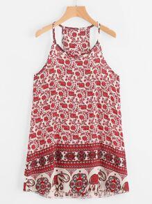 Vintage Print Cami Dress