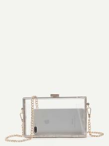 Clear Chain Clutch Bag