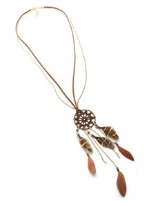 Dreamcatcher And Feather Vintage Necklace