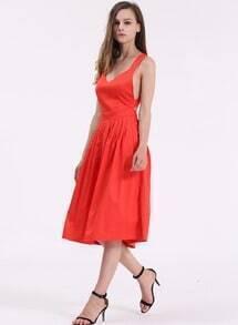 Sleevless Backless Dresses