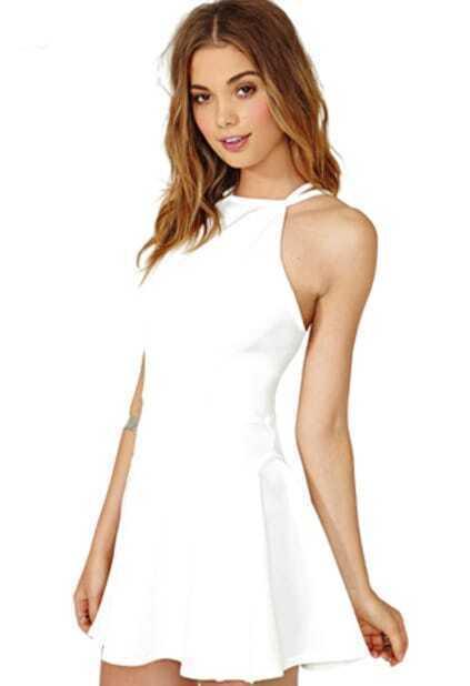 72fe1957056f Off-shoulder Backless Skater Dress EmmaCloth-Women Fast Fashion Online