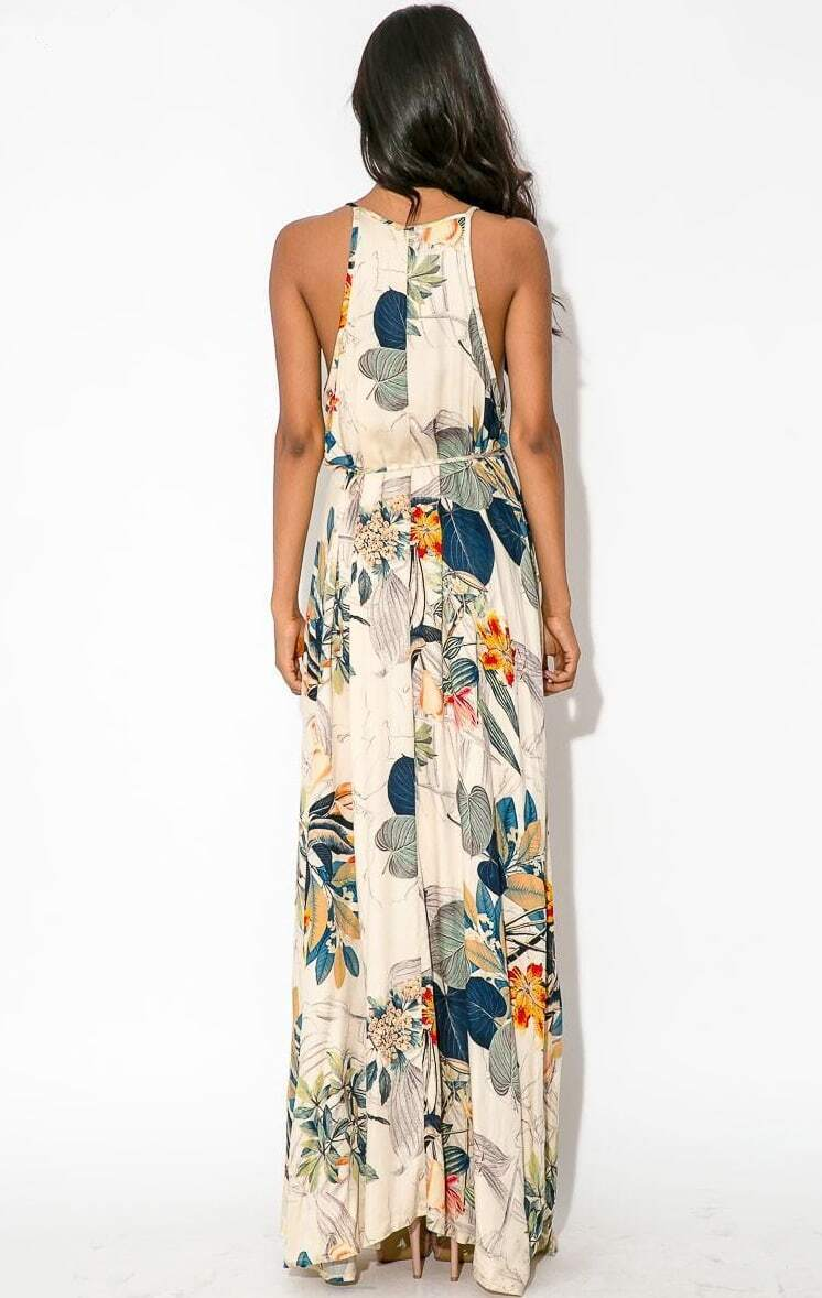 r ckenfreies spaghettitr ger kleid mit schlitz wei emmacloth women fast fashion online. Black Bedroom Furniture Sets. Home Design Ideas