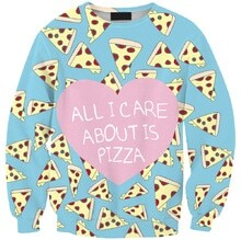 The Stamp pizza sweatshirt