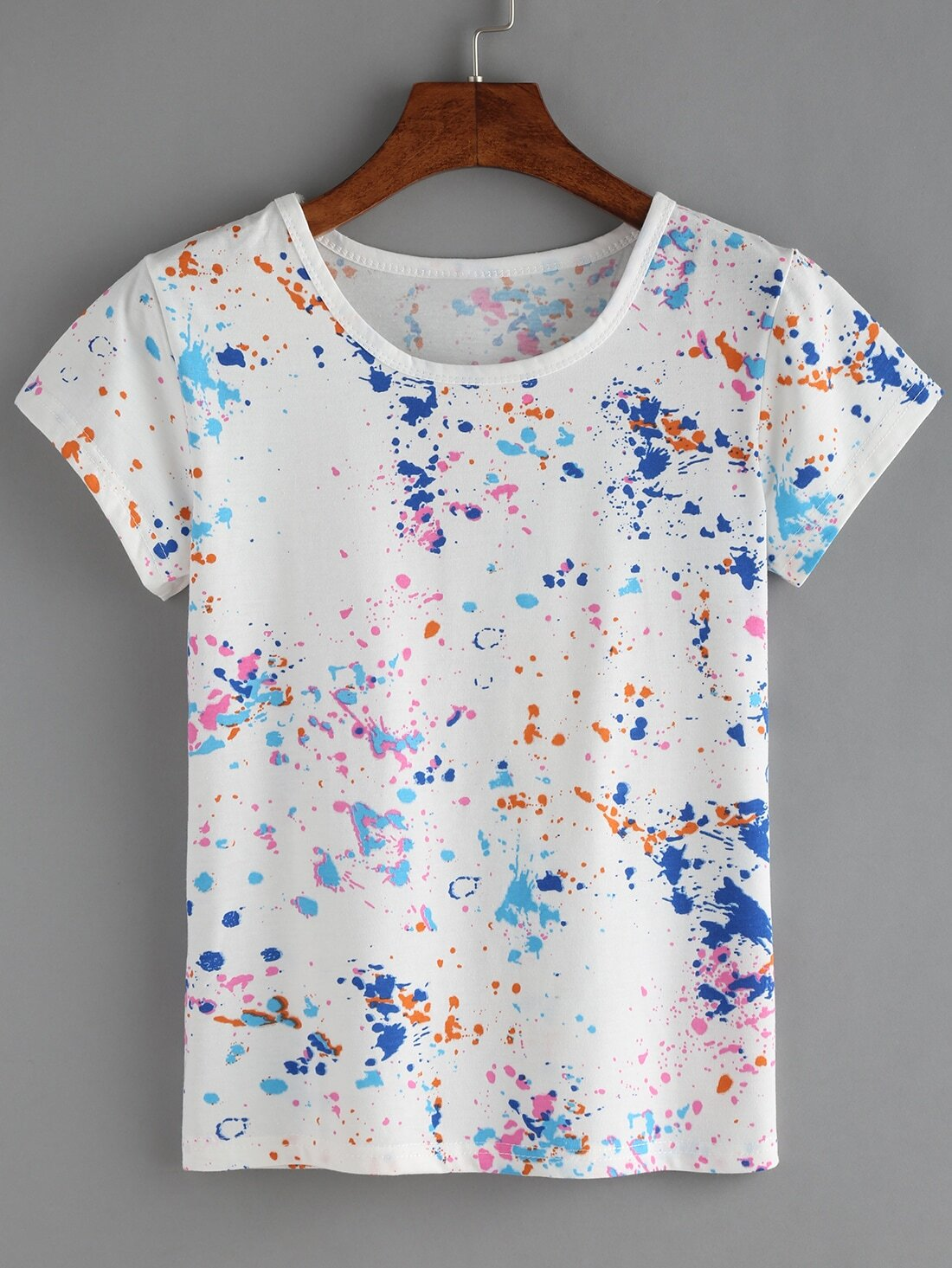 a1d1ee9d42 Colorful Paint Splash T-shirt EmmaCloth-Women Fast Fashion Online