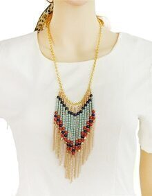 Tassel Beads Chain Necklace