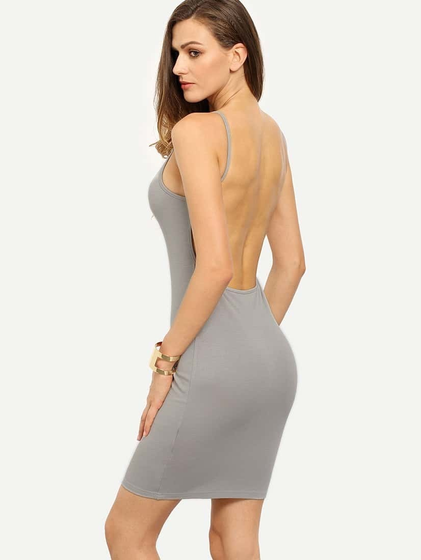 Spaghetti Backless Dress