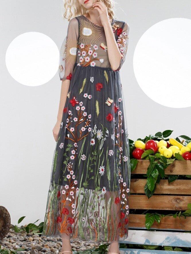 Sheer Gauze Maxi Dresses