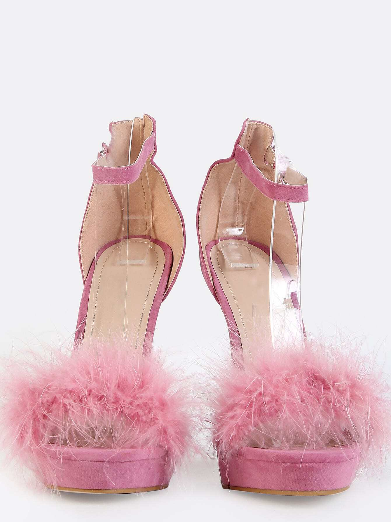 db752d12a1 Feather Ankle Strap Heels MAUVE EmmaCloth-Women Fast Fashion Online