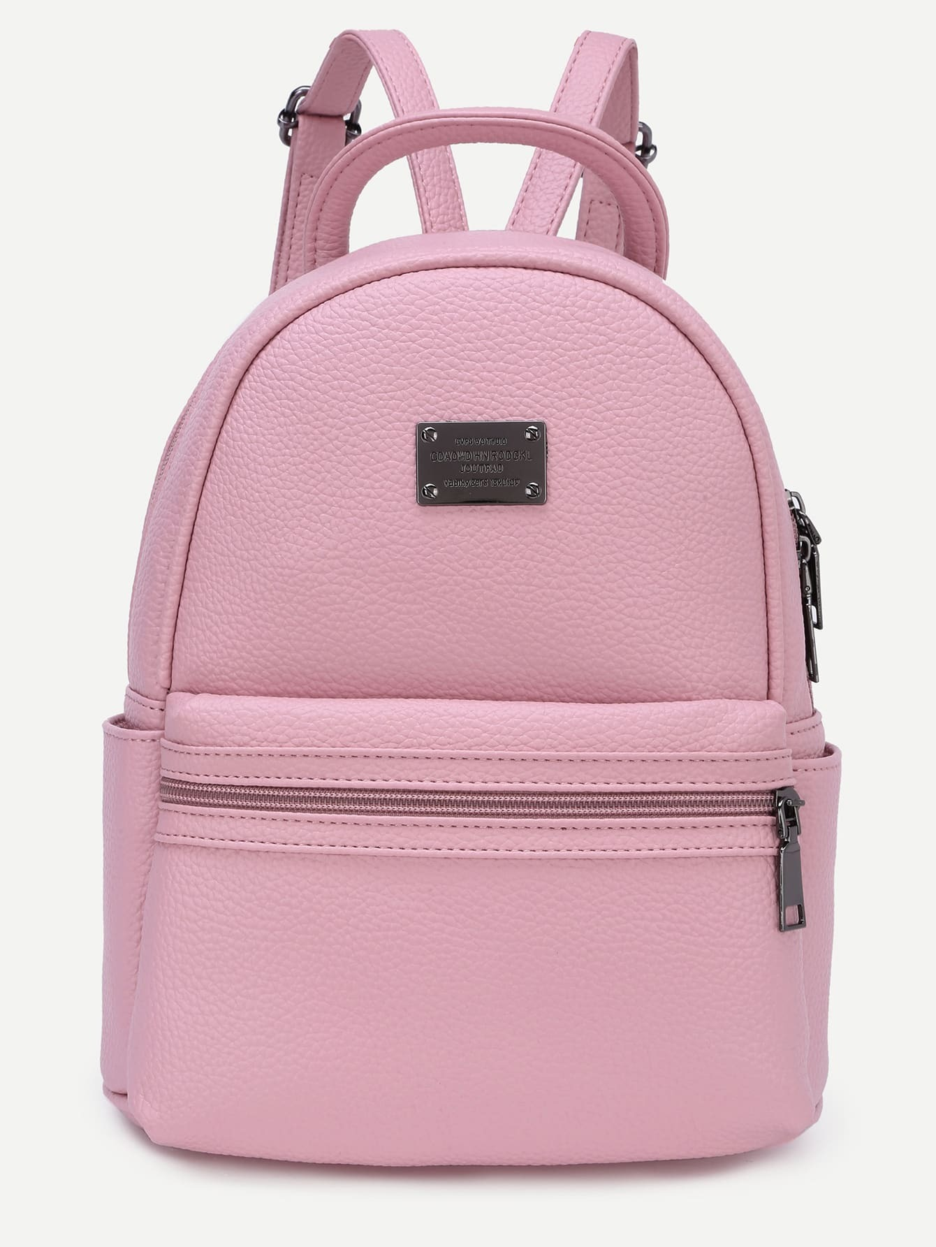 Pink Pebbled Faux Leather Backpack EmmaCloth-