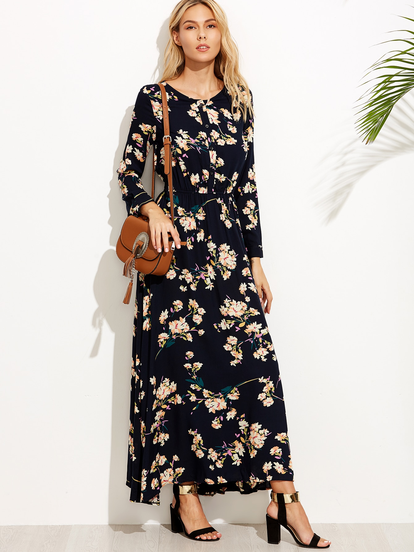 67a929a3d58 Floral Chiffon Maxi Dress Online India