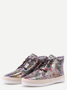 a8e7c5b095e Floral PU Snakeskin Espadrille Sneakers. shoes161007814 1. shoes161007814 2