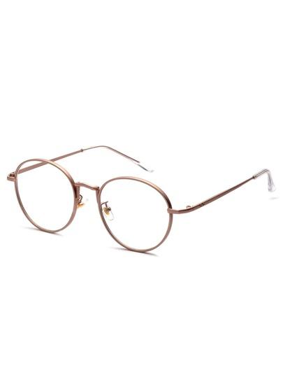 09e790b75f6 Rose Gold Delicate Frame Clear Lens Glasses EmmaCloth-Women Fast ...