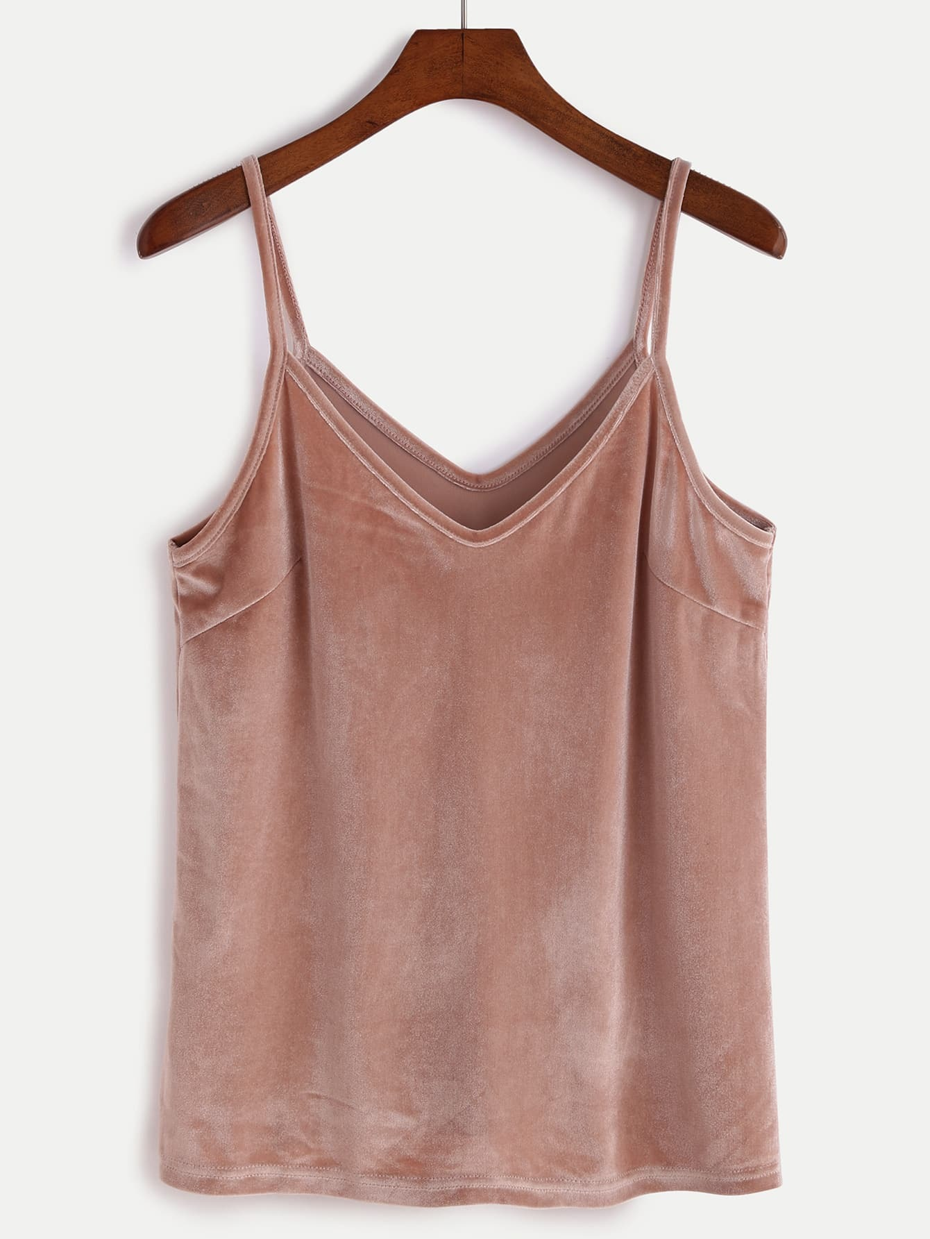 f15aa335673e8 Pink Velvet Cami Top EmmaCloth-Women Fast Fashion Online