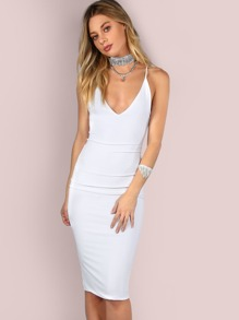 Sleek Cami Bodycon Midi Dress IVORY