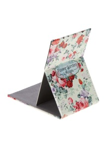 Calico Print Fold Over Mirror