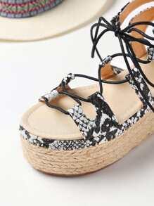 406ba57491f5 Snake Print Lace Up Espadrille Flatform Sandals. shoes170407802 1.  shoes170407802 2