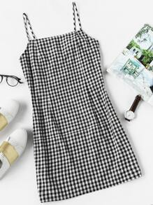 Gingham Print Cami Dress